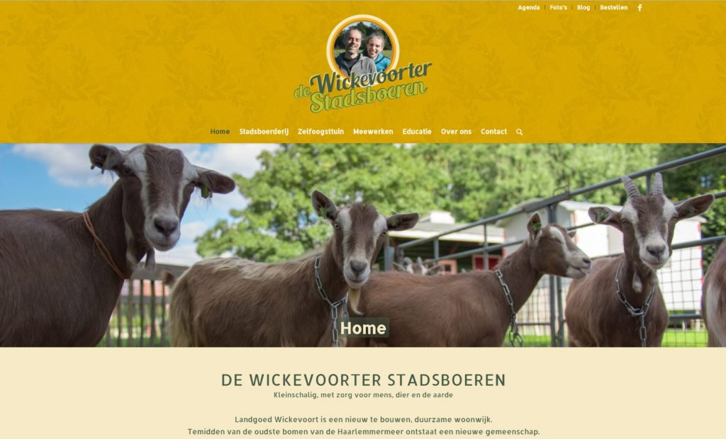 Website De Wickevoorter Stadsboeren